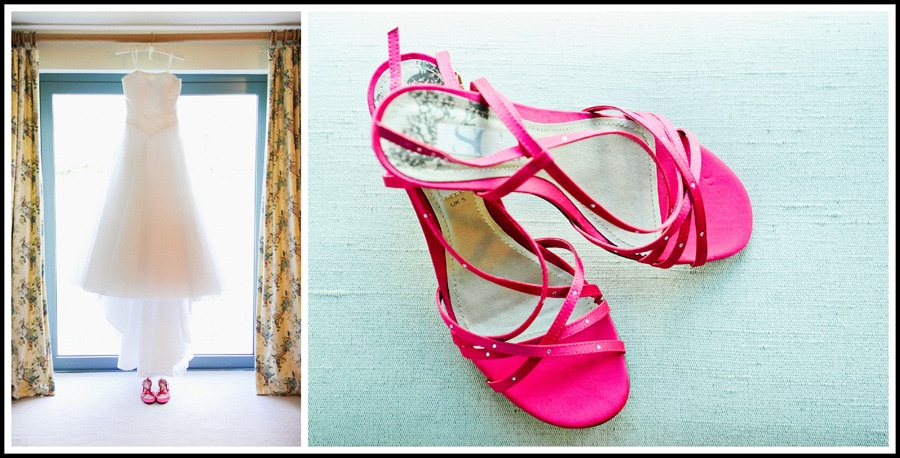 Manor Hill House Wedding Dress and Shoes