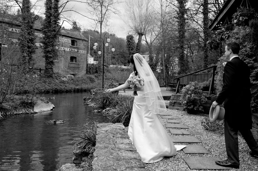 Egypt Mill Hotel Wedding Feeding the Ducks