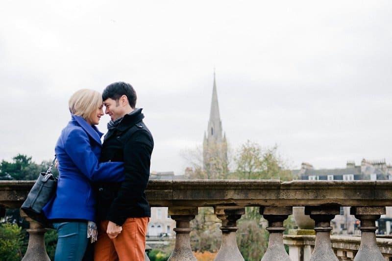 Weddings in Bath romantic street portrait