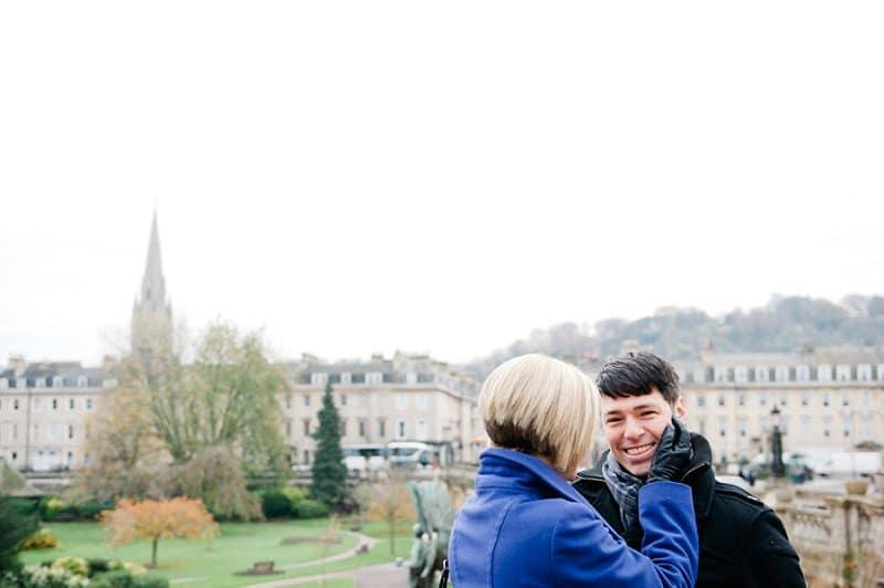 Weddings in Bath touching face photo