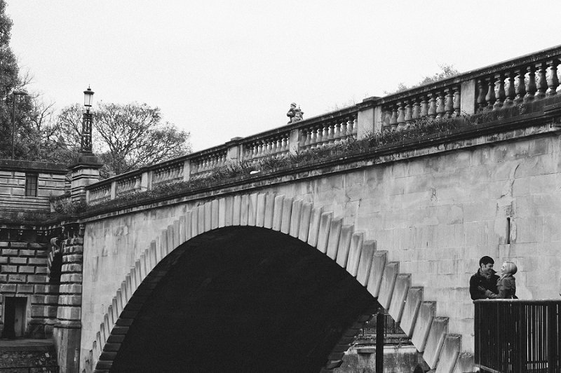 Weddings in Bath below bridge photo