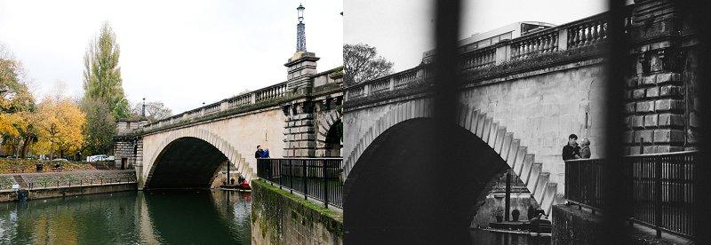 Weddings in Bath below bridge montage