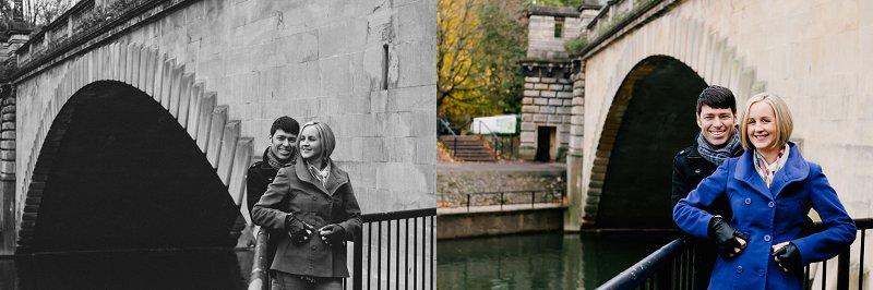 Weddings in Bath below bridge pictures
