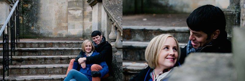 Weddings in Bath sitting on steps photos