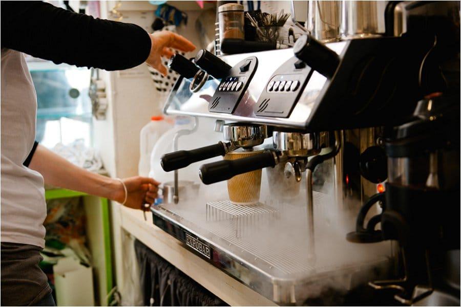 Nom Nom Cupcakery coffee machine photo
