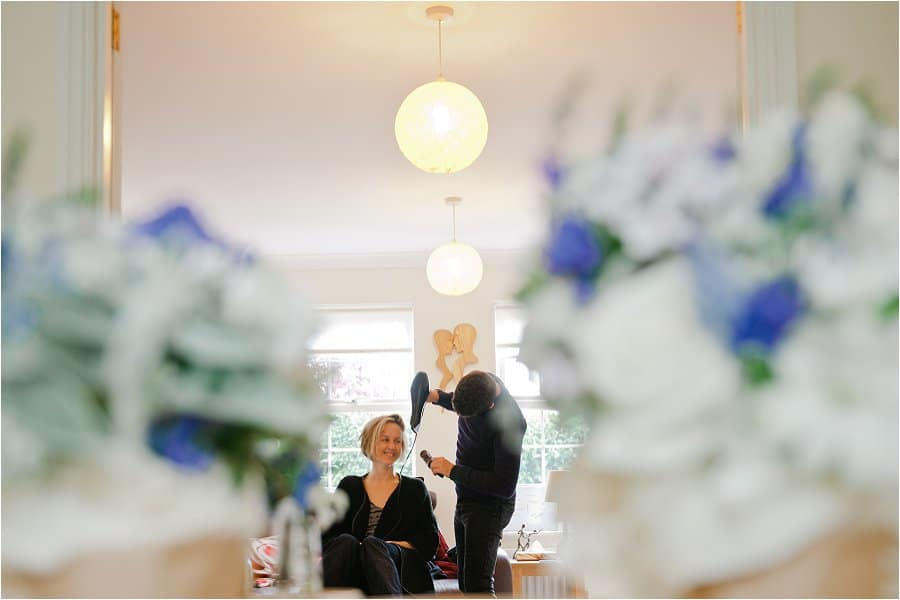 Wick Farm wedding photos Bridal prep