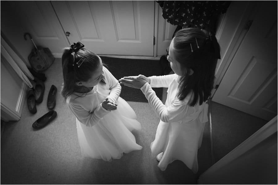 Wick Farm bridemaids playing photo