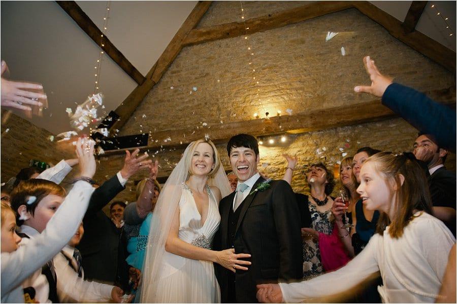 Wick Farm wedding confetti photo
