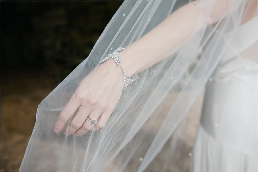 Wick Farm bride wedding ring and dress detail
