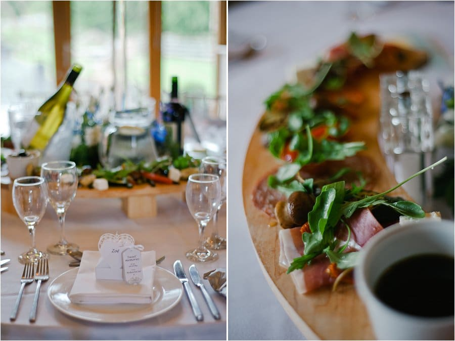 Wick Farm wedding table details