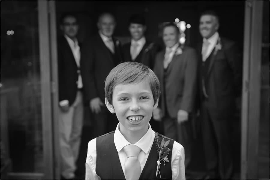 Wick Farm pageboy with groomsmen