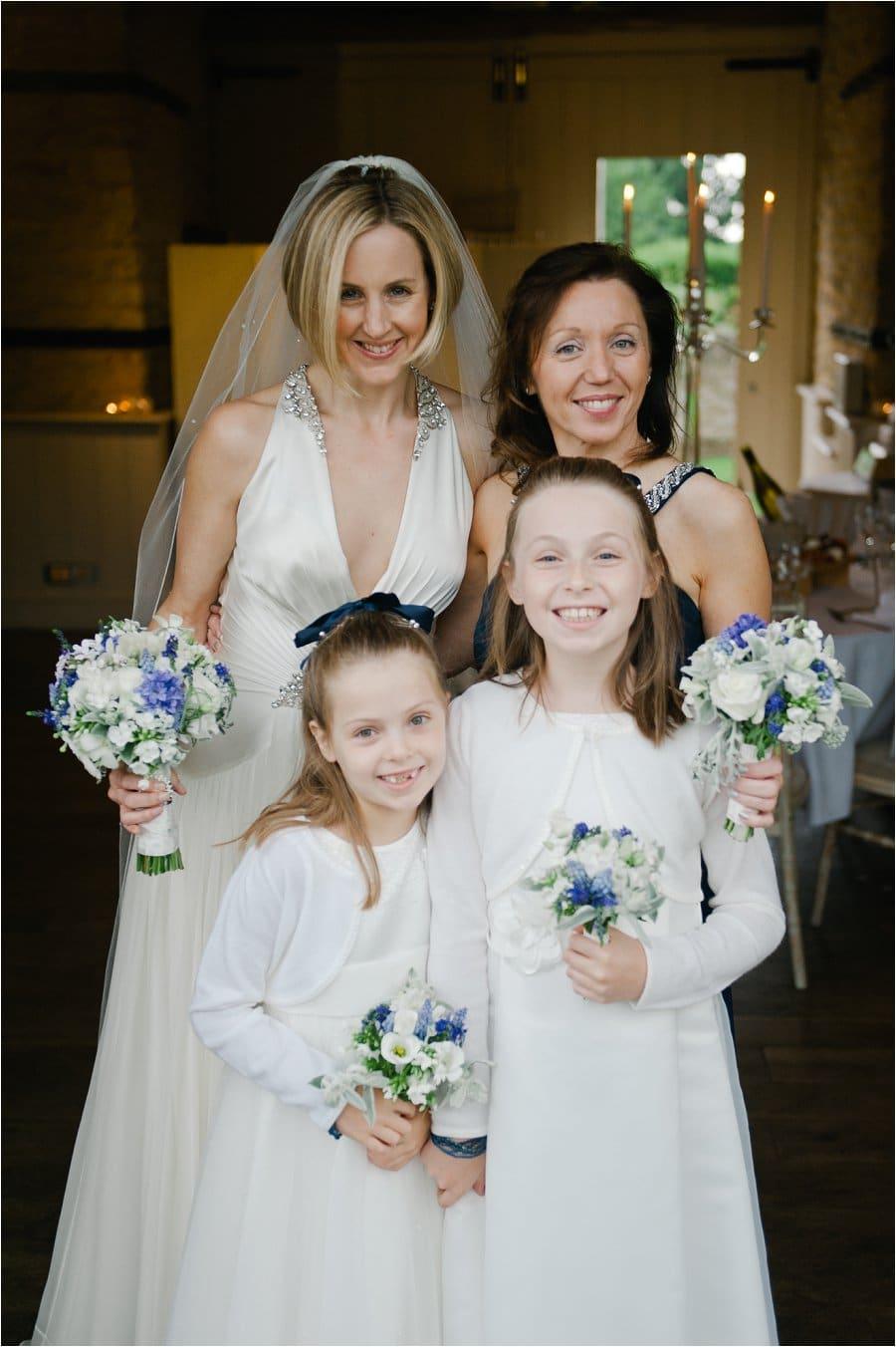 Wick Farm bride with bridesmaids portrait