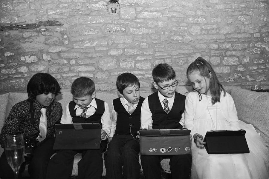 Wick Farm children entertaining themselves