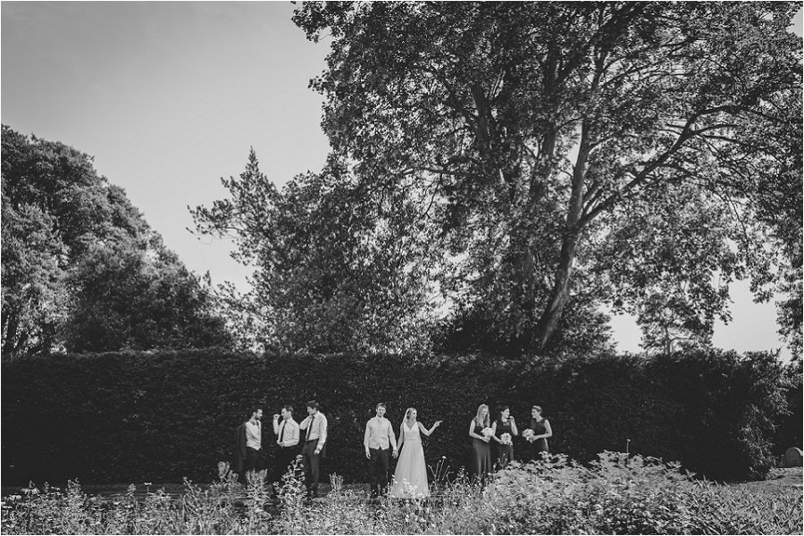 Westonbirt School Wedding Black and White