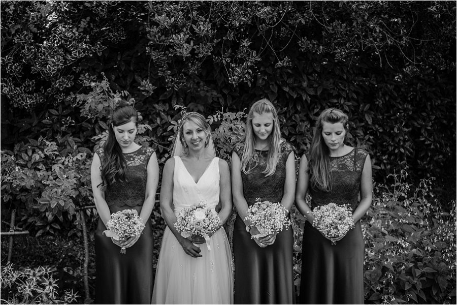 Westonbirt School bride with bridemaids