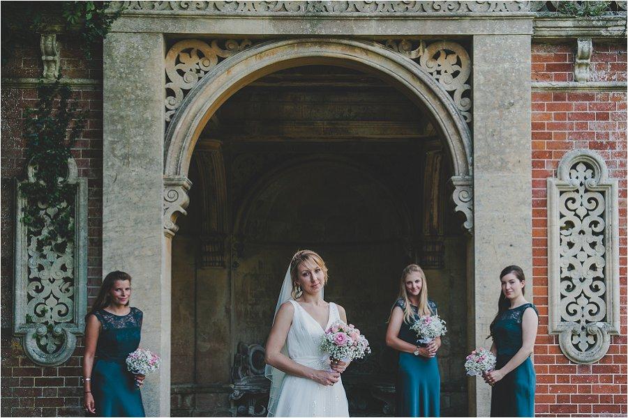 Westonbirt School Wedding Bride with bridesmaids