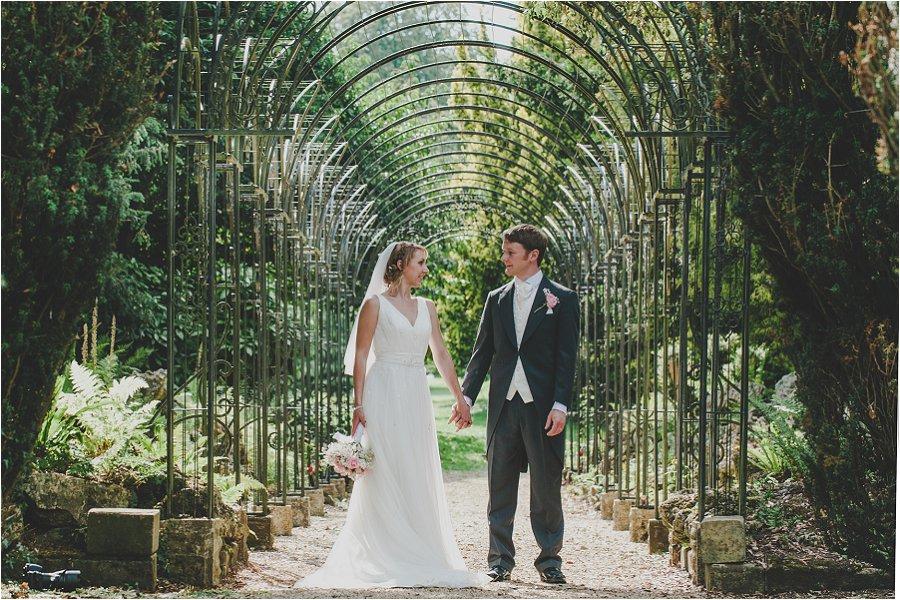 Westonbirt School Wedding Bride and Groom holding hands
