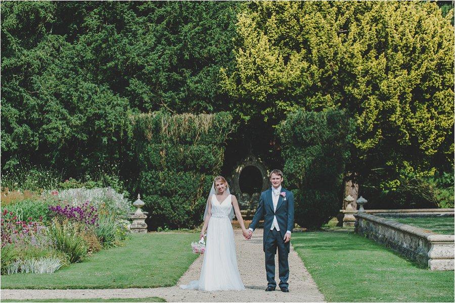 Westonbirt School Wedding holding hands