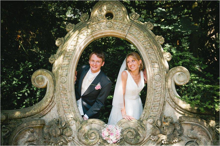 Westonbirt School Garden Wedding Portrait