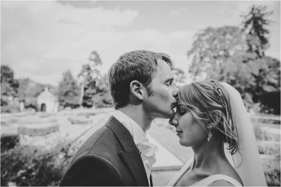 Westonbirt School Garden Wedding Kiss
