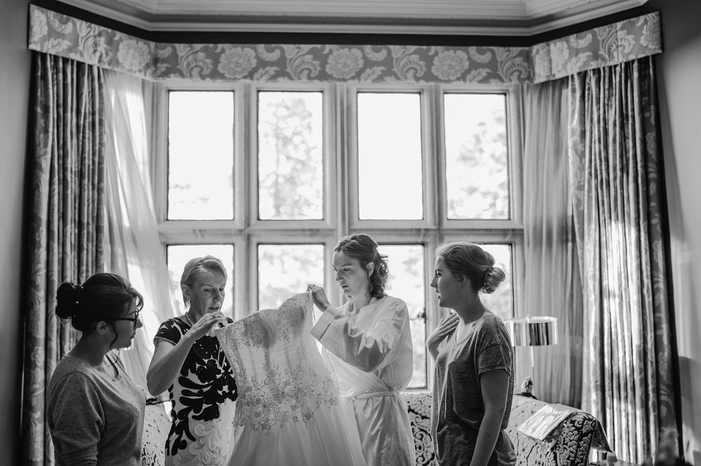 Eynsham Manor putting on the dress photo