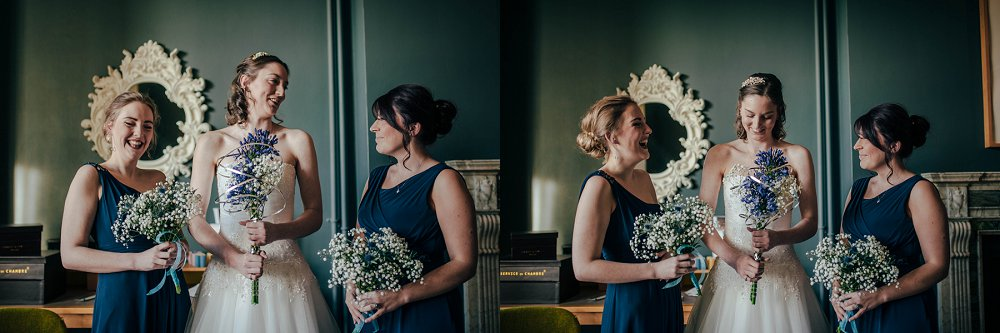 Eynsham Manor bride with bridesmaids photo