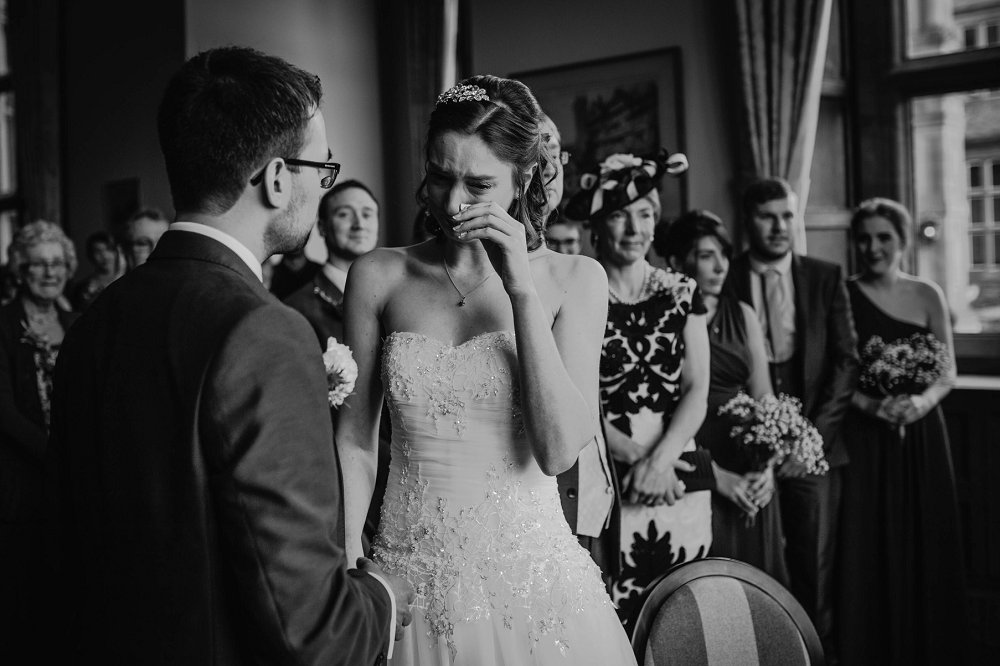 Eynsham Manor emotional ceremony moment photo