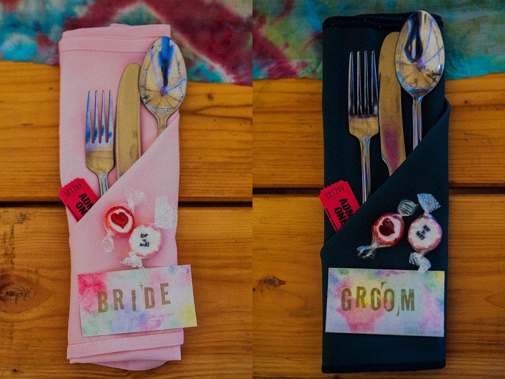 Wyldwoods wedding table settings detail photo