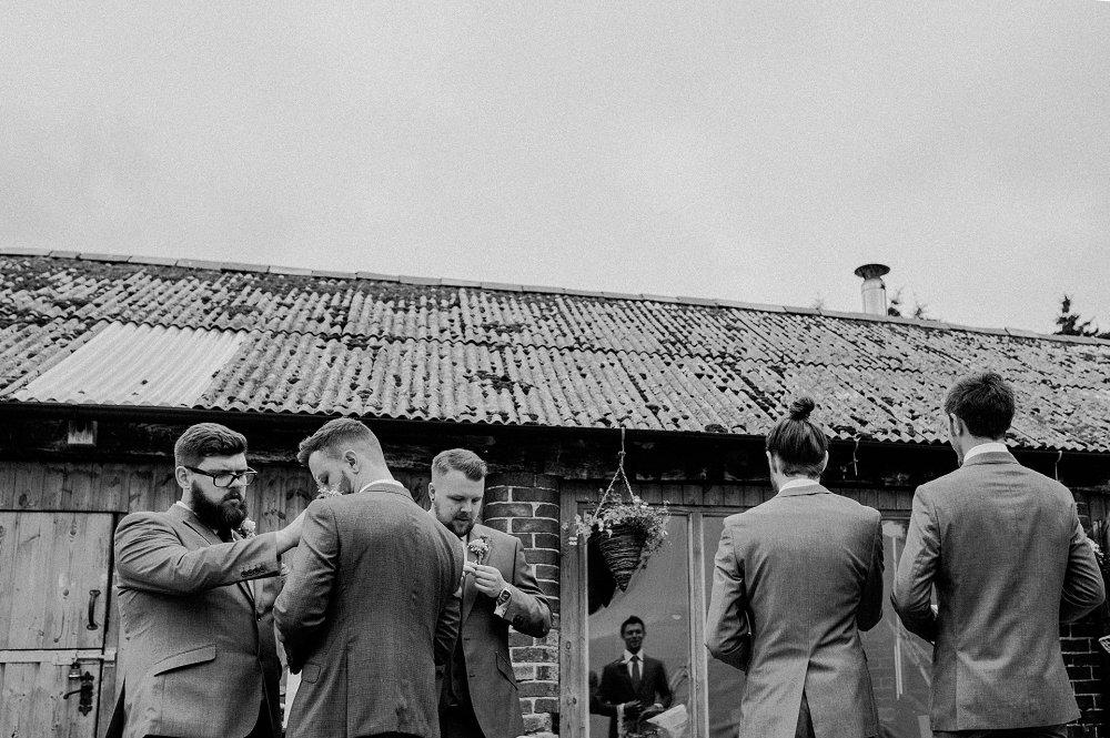 Wyldwoods groomsmen getting ready photo