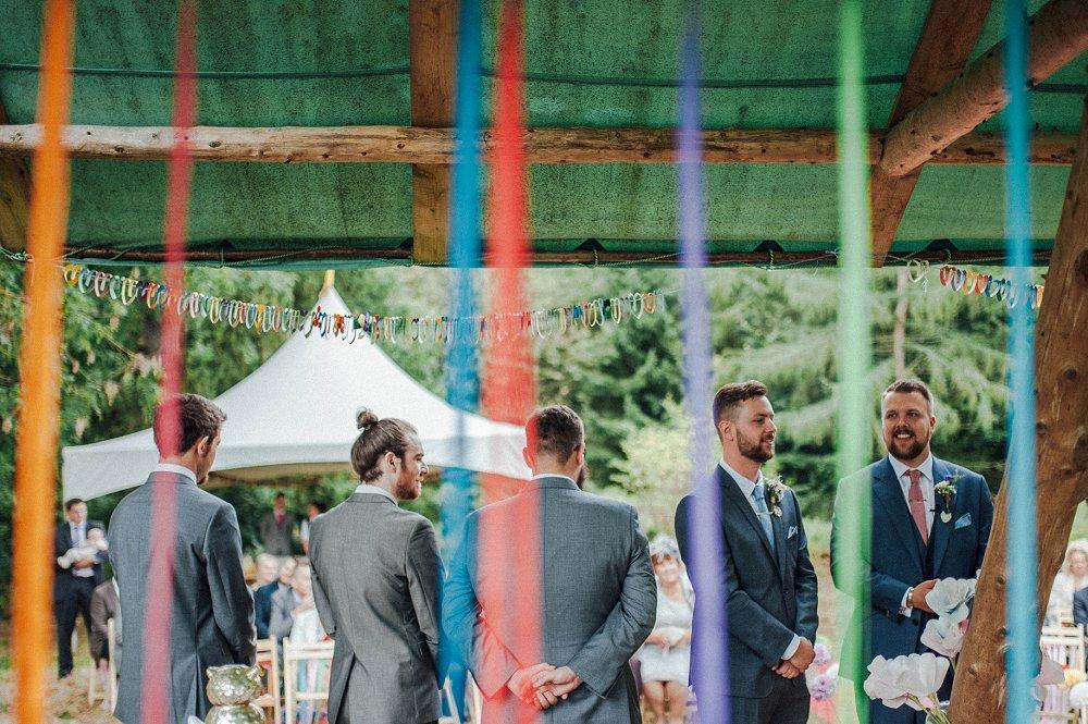 Wyldwoods groomsmen ready for ceremony