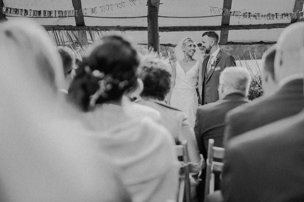 Wyldwoods bride and groom photo