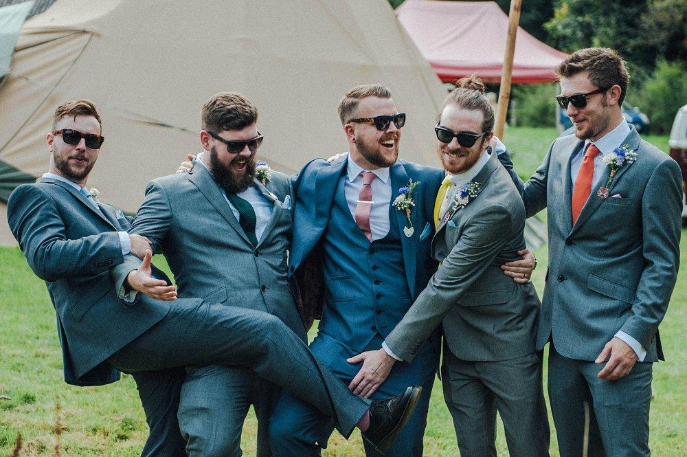 Wyldwoods wedding candid group photo