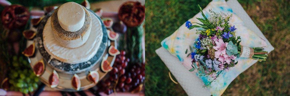 Wyldwoods wedding cake and flowers detail