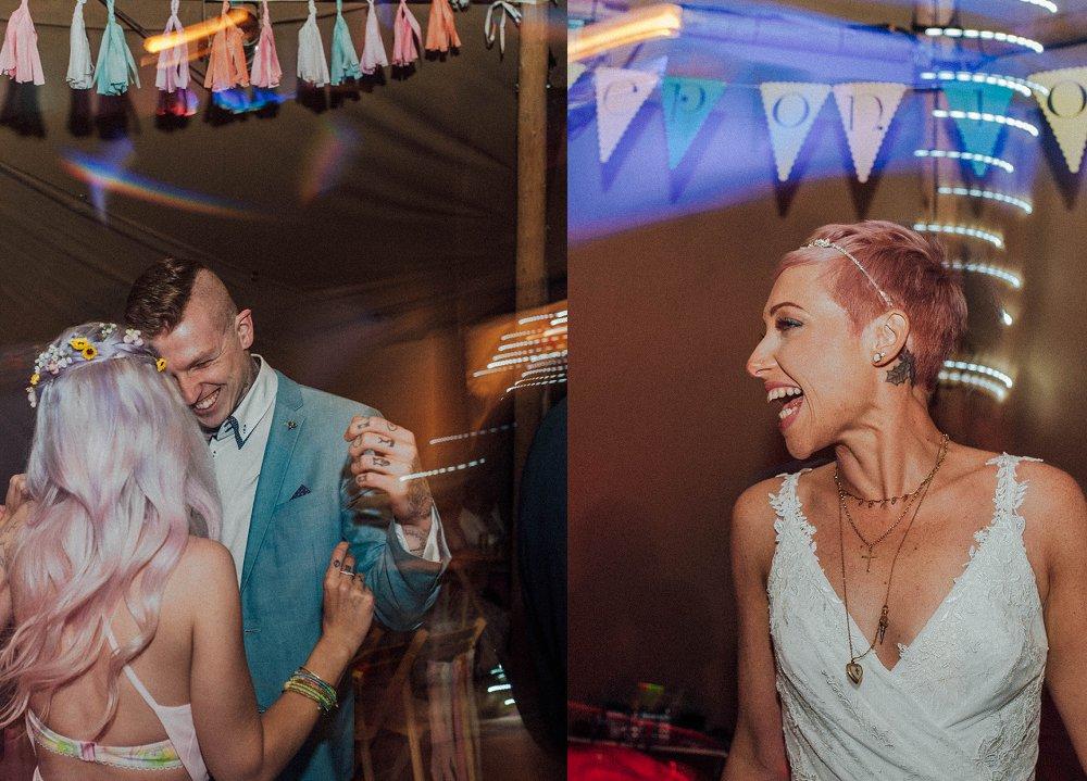Wyldwoods wedding party on the dancefloor