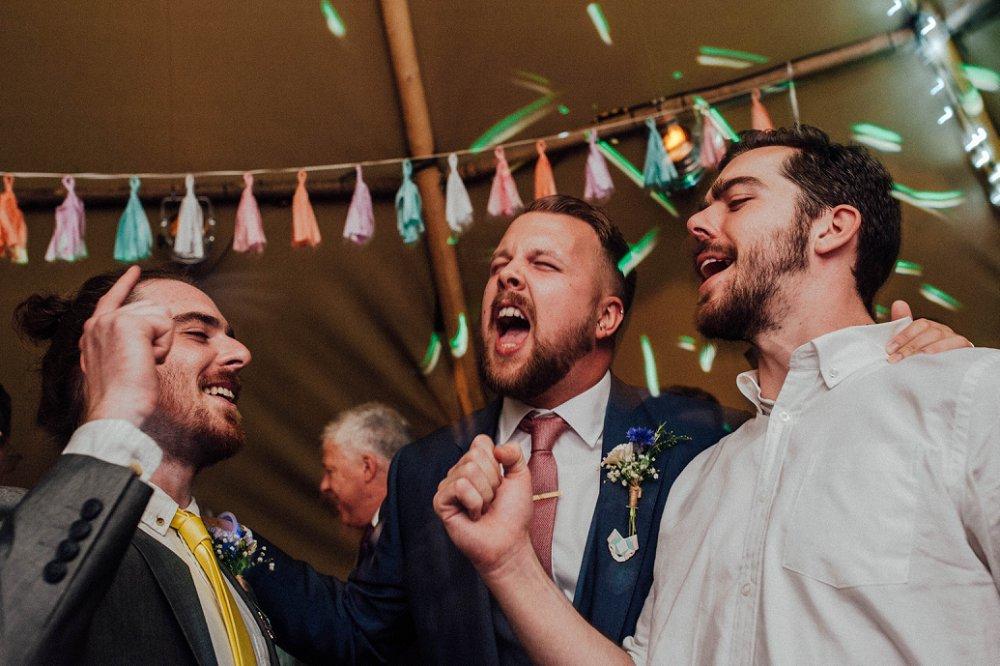Wyldwoods wedding boys singing photo