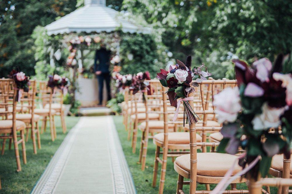 Maunsel House wedding ceremony detail photo