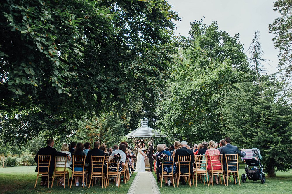 Maunsel House wedding day garden ceremony