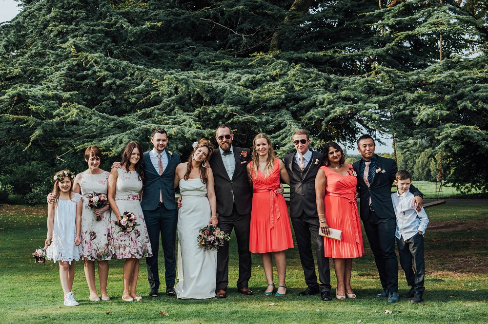 Maunsel House wedding party group photo
