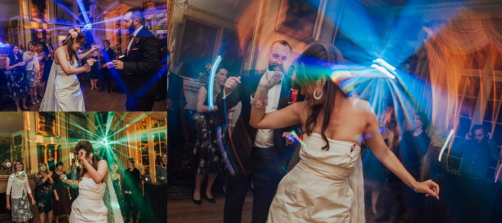 Maunsel House bride dancing at party photo