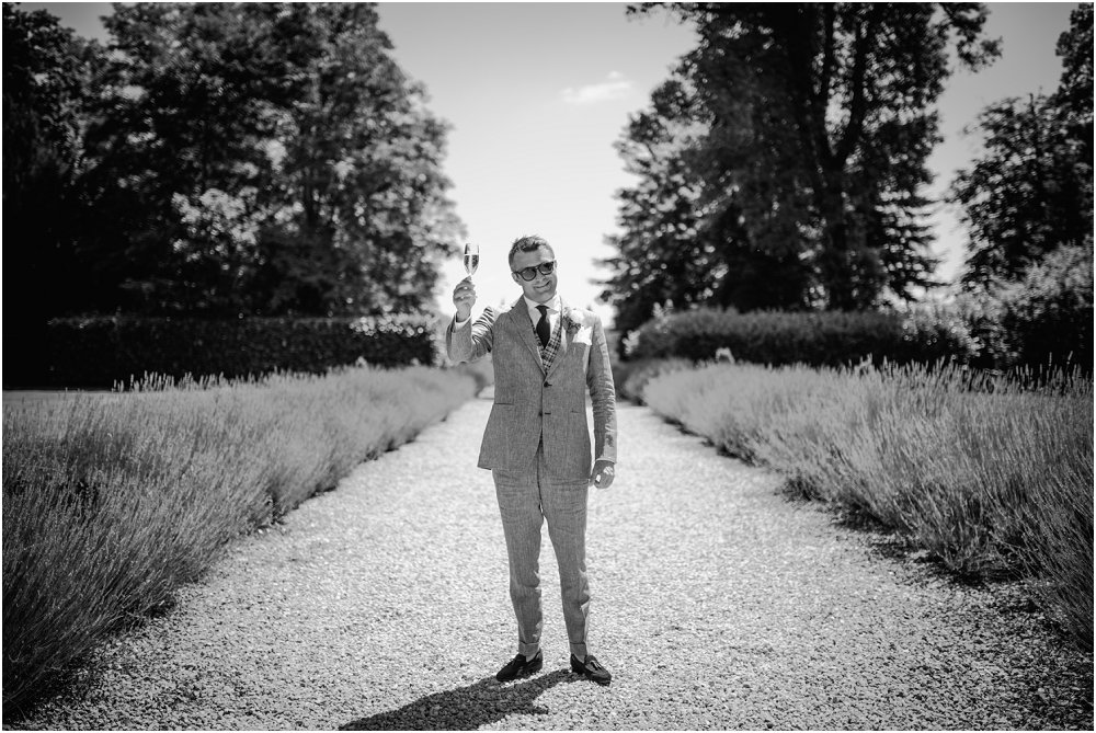 French Chateau Wedding groom looking smart