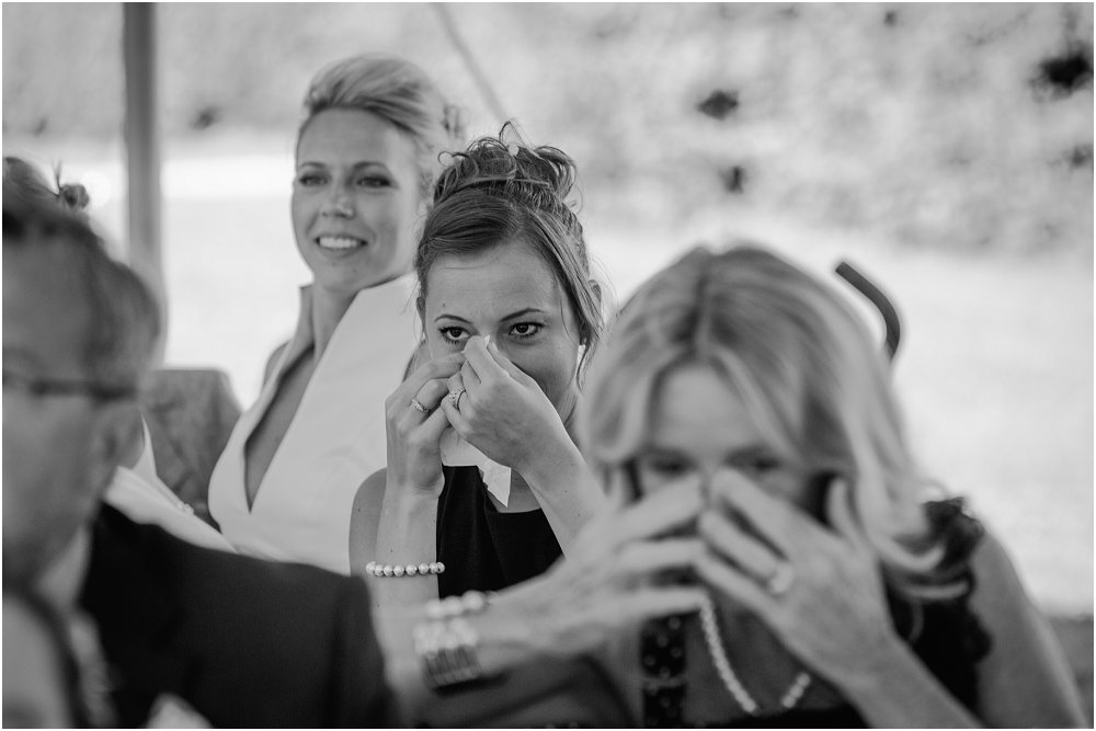 French Chateau Wedding emotional speeches photo