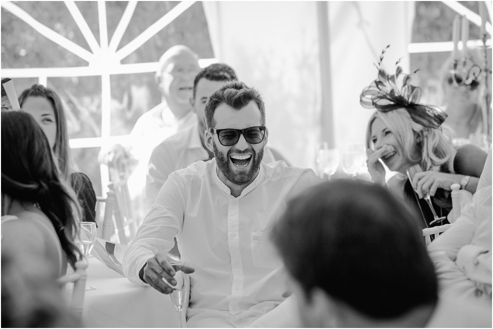 French Chateau Wedding reaction to speeches photo