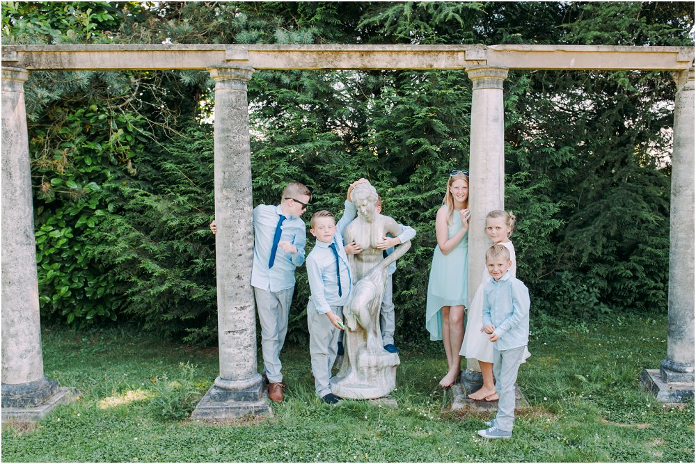 French Chateau Wedding candid children photo