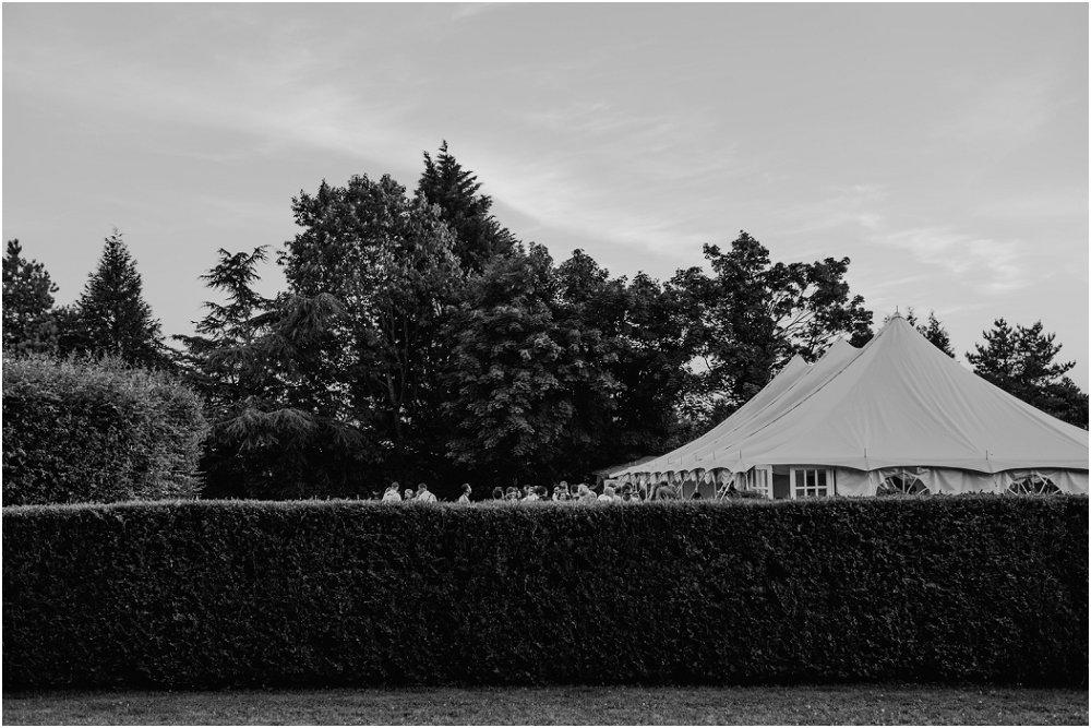Chateau Durantie wedding garden marquee
