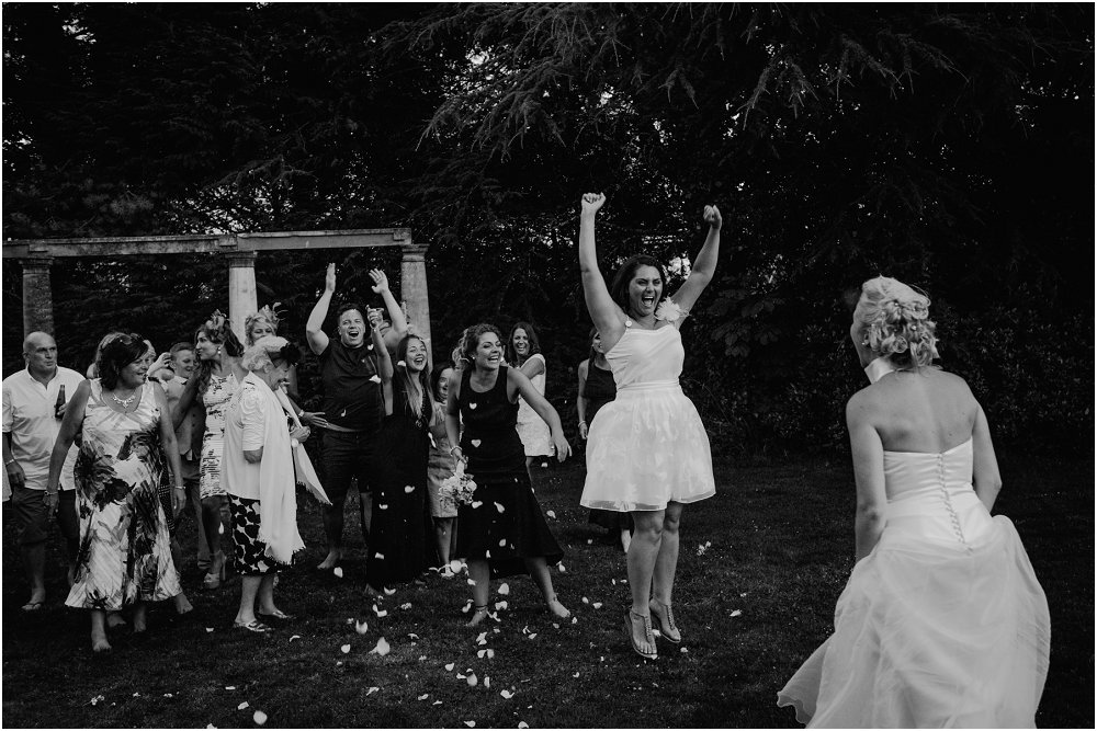 Chateau Durantie throwing the bouquet photo