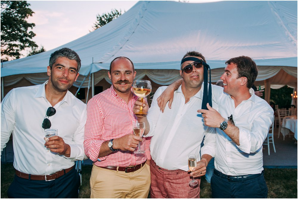Chateau Durantie drunken groomsmen photo