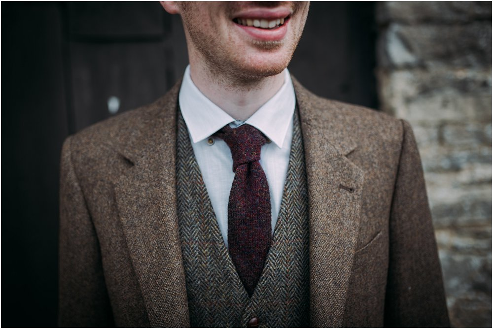 Cogges Manor Farm groom in tweed photo