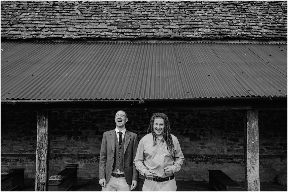 Cogges Manor Farm groom with best man photo