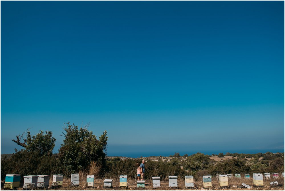 Cyprus Wedding Photography quirky engagement session beehives