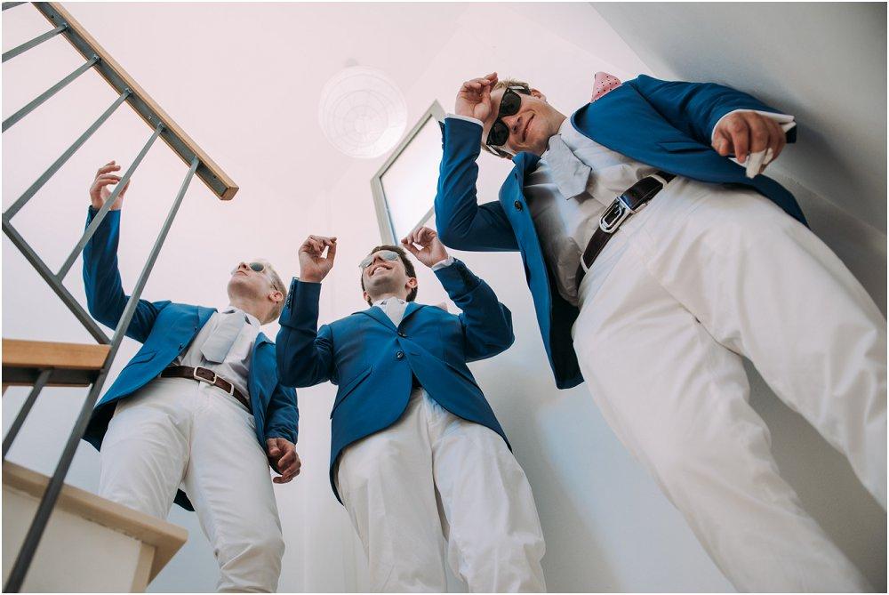 Anassa Hotel Cyprus groomsmen arriving at wedding
